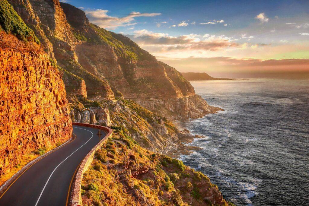 Küstenstraße in Südafrika